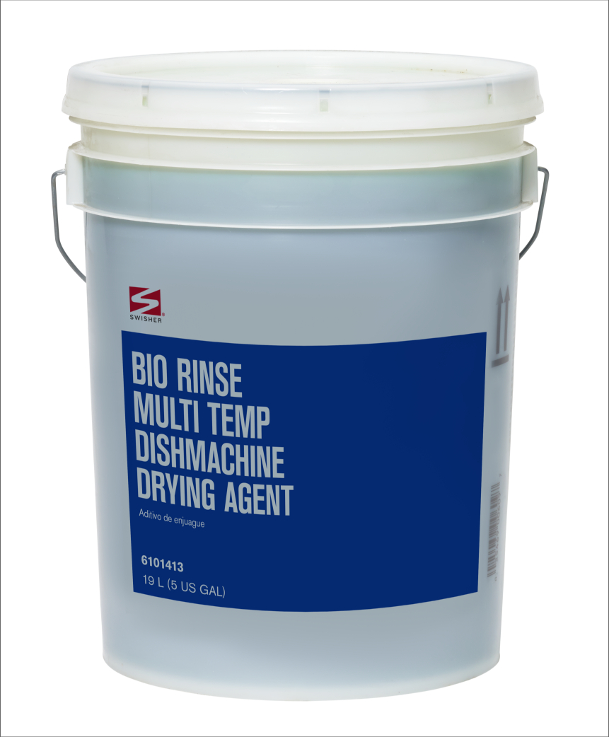 Swisher Bio Rinse Multi Temp Dishmachine Drying Agent