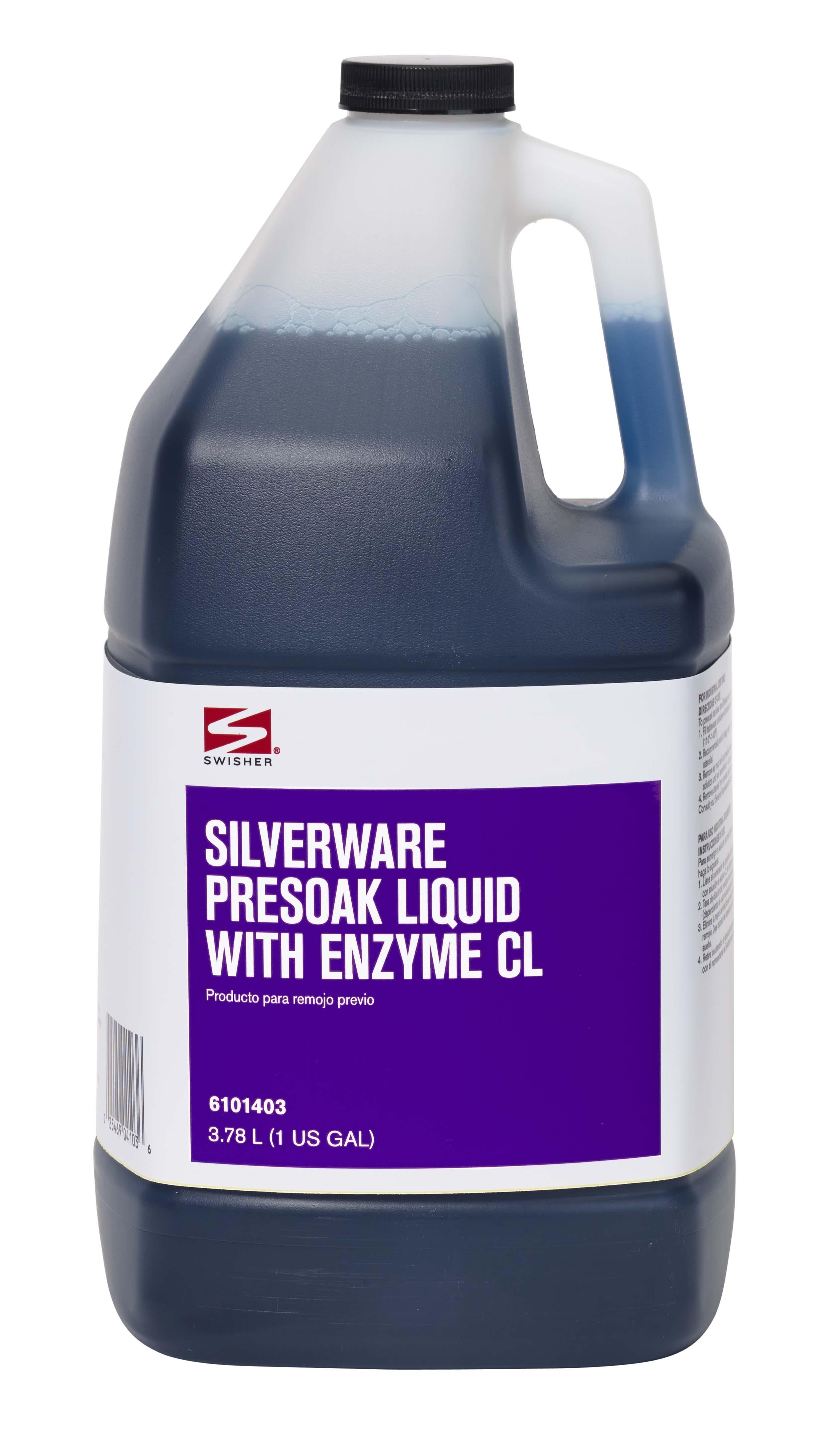 Swisher Silverware Presoak Liquid With Enzyme Cl